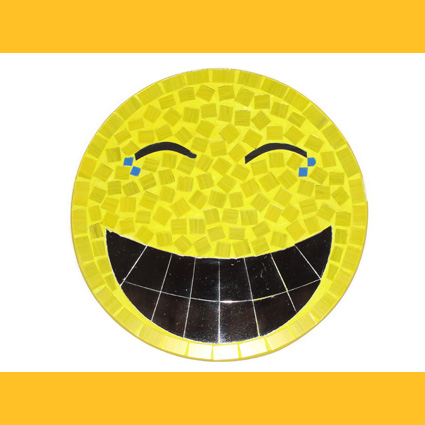 Smiley Joy Wandbild Glasmosaik Deko Wanddeko