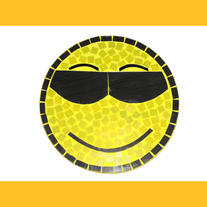 Smiley Cool Wandbild Glasmosaik Deko Wanddeko