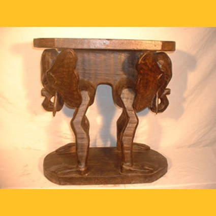 Hocker Doppel Elefant Blumenpodest