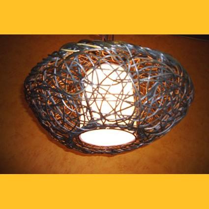 Deckenlampen Deckenleuchte Rattan 65cm Deckenlampe