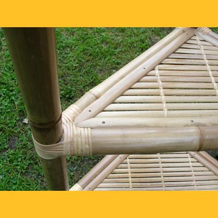 Paravents Bambusregale Bambus Regal Eckregal 1m