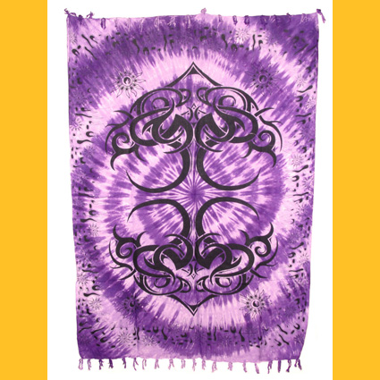Sarong Pareo Tribaldesign I violett Wickelrock