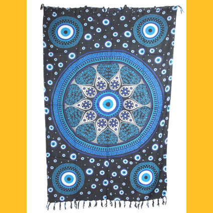 Sarong Pareo Blue Dreams II schwarz Wickelrock