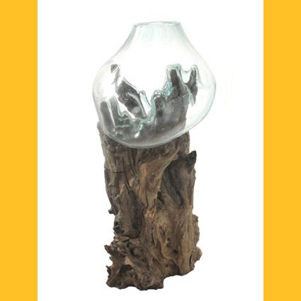 treibholz wurzelholz glas vasen glas bodenvase auf. Black Bedroom Furniture Sets. Home Design Ideas