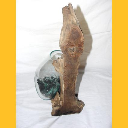 treibholz wurzelholz glas vasen glas wandvase 40cm auf treibholz wurzelholz. Black Bedroom Furniture Sets. Home Design Ideas