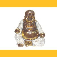 Resin Happy Buddha, 30cm lachender Mönch