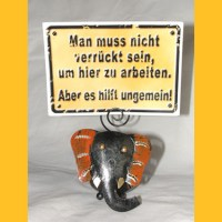 Kartenhalter Elefant orange