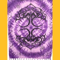 Sarong Pareo Tribaldesign I Wickelrock violett