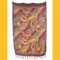 Sarong Pareo Kaya Wickelrock orange-bordeaux