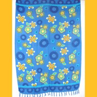Sarong Pareo Flower Power Wickelrock