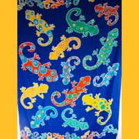 Sarong Pareo Clown Geckos Wickelrock