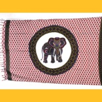 Sarong Pareo Dotpaint Elefant rot Wickelrock