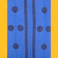 Sarong Pareo Celtic Ornament blau Wickelrock