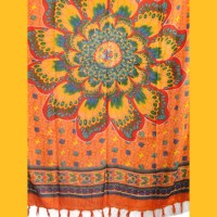 Sarong Pareo Mandala Schmetterlingsblume orange Wickelrock