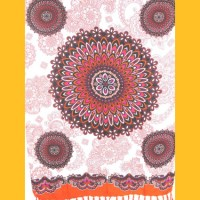 Sarong Pareo Mandala Dreamtime orange-bunt Wickelrock