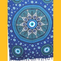 Sarong Pareo Blue Dreams II blau Wickelrock