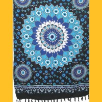 Sarong Pareo Blue Dreams III schwarz Wickelrock